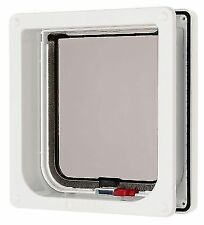 Petmate Cat Mate Cat Flap Pet Door 234W White Lockable Catflap Trimmable Liner