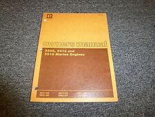 Caterpillar CAT 3508 3512 3516 Marine Engine Owner Operator Maintenance Manual