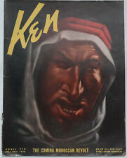"Ken Magazine Cover - ""THE COMING MOROCCAN REVOLT"" Lithograph -1938"