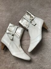 Forleria Ivory Soft  Leather  Lightweight Ankle Boots RP $ 1,180 Sz 36