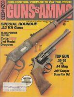 Guns & Ammo Magazine August 1975 -  Special .22 Kit Guns , 3rd Model Gragoon