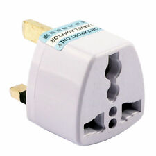 Universal US AU EU to UK AC Power Plug White Travel Wall Adapter Plug Converter