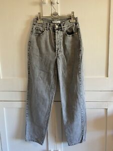 Pull And Bear Grey Boyfriend Jeans Size 6