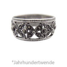 Silber Band Ring Markasiten filigran silver ring marcasites filigree 🍀🍀🍀