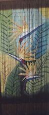 Bamboo Beaded Door Curtain - Bird of Paradise (also Room Divider or Wall Art)