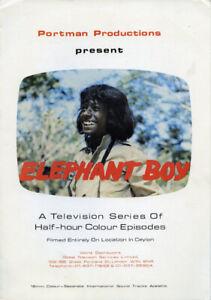 Éléphant Garçon Télévision Séries 1972 Rare Original Press Livre Synopsis Estrom