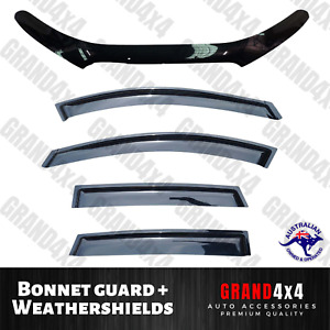 Bonnet Protector Guard + Window Visors suits Holden Captiva 7 Series 2 2011-2017