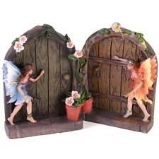 2 Märchen Tür Geheimes für Garten Heim Magischer Harz Ornament Set Elfe Figur