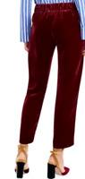 J CREW Luxe Velvet Pull-On Easy PANTS  Burgundy  Size 4 Style J5014 D21