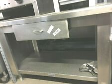 """Table cabinet stand 48'' x 30'' x 35"""" H stainless-steel commercial"""