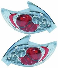 PEUGEOT 206 CC 98-05 BACK REAR TAIL LIGHTS CHROME LEXUS STYLE DESIGN