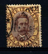 ITALIA - Regno - 1889 - Effigie di Umberto I° - 1 lira bruno e giallo