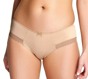 Cleo Juna 6462 Brief Plain, Stretch, Smooth Back with Lace Trim Legs in Nude