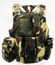 Giubbotto Corpetto Tattico Woodland Body Armor Light Royal Plus