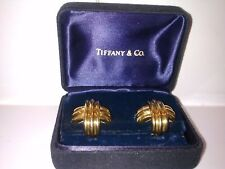 "Tiffany & Co AFFARE Gold 18K 23 grams. 25,4x25,4 Signature ""X"" Original.BOX"