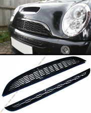 For 01-06 Mini Cooper R52 R53 Front Upper Lower Glossy Blk Honeycomb Mesh Grille