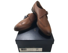 Ralph Lauren Collection Burnished Calfskin Leather Wing Tip Dress Oxford Shoes