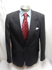 Mens BROOKCRAFT brown 2 button pinstripe suit sz 42L