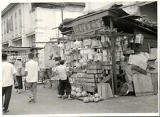 malay malaysia, PENANG (?), Unknown Road Scene, Street Seller (1940s) Real Photo
