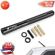 "TRD Carbon Fiber Antenna Black Aluminum Short 4.7"" Inch For Toyota & Lexus"