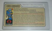 CUSTOM 1982 GI Joe Cobra Commander v1 Mickey Mouse Mail Away Uncut File Card