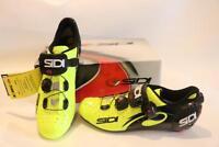 New Sidi Men's Wire Vent Road Bike Shoes Carbon 41.5 8 Yellow Black Race TT Tri