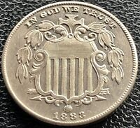 1883 Shield Nickel 5 Cents 5c RARE + PROOF + Uncirculated Details #15004