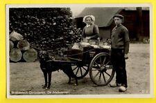 cpa HOLLAND VOITURE à CHIEN MILK Attelage J. SCHOENMAKERS HONDENKAR DOG CART