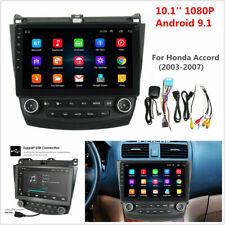 10.1' Android 9.1 Quad-Core Car Stereo Radio Gps Nav For Honda Accord 03-07 Hot