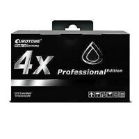 4x Eurotone Pro Cartridge Black XL For Epson Workforce Pro WF-5620-DWF