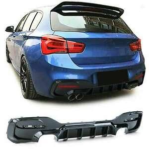 Fits for BMW F20 F21 15-19 LCI m sport rear bumper diffuser performance twin