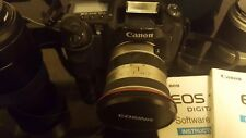 Canon EOS 10D 6.3MP with 28-90mm 1:4-5.6 100-300mm 1.4.5-6.7 19-35mm 1:3.5-4.5