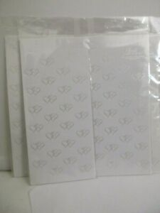 GREAT PAPERS Pearl  Double Hearts Seals WEDDING INVITATION STICKER LABELS 100pcs
