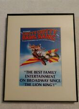framed picture from the Broadway show Chitty Chitty Bang Bang