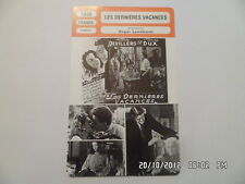 CARTE FICHE CINEMA 1948 LES DERNIERES VACANCES Pierre Dux Renée Devillers B.Bovy