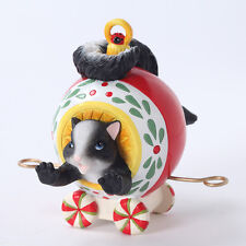 Charming Tails Your Laughter Decorates Skunk Train Ornament New 4027654 Holiday