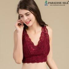 Natural Silk Lace Bra Wire Free