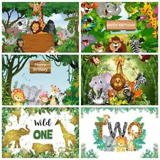 New ListingPhotography Background Backdrop Jungle Forest Wild Animal Safari Party Birthday