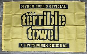 Pittsburgh Steelers Football Terrible Towel NFL 3x5 Banner Flag Mancave Tailgate