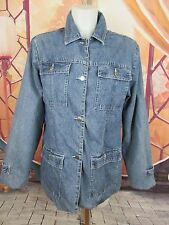 Lee Riveted Denim Jeans Jacket 100% Cotton Coat Size L