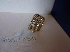 Original Swarovski Cristal Anillo Espiral GP-tamaño 58