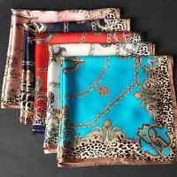 "100% Silk Square Leopard Scarf Women's Fashion Print Neckerchiefs Wraps 21""*21"""