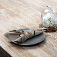 VHC Farmhouse Cotton Linen Napkins Lot Set 6 Decorative Napkins 4 Colors 18x18