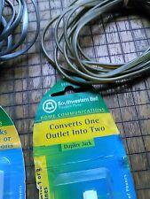 1-Lot Southwestern Bell duplex jack modular outlet 2 cords