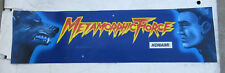 "Metamorphic Force damaged Konami 23 1/2 - 6 3/5"" arcade game sign marquee cF43"
