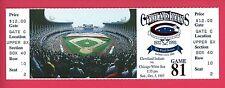 Cleveland Indians Last Final Game at Cleveland Stadium Unused Ticket 10/3/93