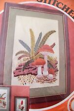 Vintage Crewel Kit Mushroom Delight Paragon Stitchery 0821 NEW SEALED Fern