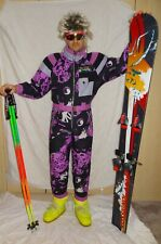 CAPRLOPE Retro Vintage 80's 90's Ski Suit Neon Apres Ski SIZE UK12