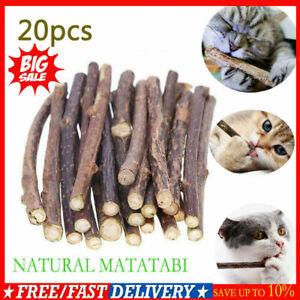 20pcs Cat Chew Sticks Natural Matatabi Catnip Silvervine Teeth Cleaning Toy