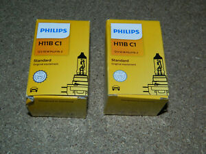 (2) NEW PHILIPS H11BC1 STANDARD HEADLIGHT BULB 12V 35W PGJY19-2